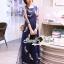 SS03010916 Seoul Secret Say's... Netty Bird Stickly Maxi Dress Material : เนื้อผ้า Net เนื้อนุ่ม สวยหรูด้วยทรงแม๊กซี่ตัวยาว thumbnail 6