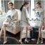 VP05310816 Luxurious White Silk Embroidered Shirt Dress เดรสเชิตงานปักสไตล์วินเทจสวยมาก thumbnail 1