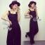 Lady Ribbon Online เสื้อผ้าแฟชั่นออนไลน์ขายส่ง เลดี้ริบบอนของแท้พร้อมส่ง sevy เสื้อผ้า SV09240716 &#x1F389Sevy Black Classic Casual Bib Jumpsuit thumbnail 2