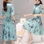เสื้อผ้าแฟชั่นเกาหลี ชุดเดรสแฟชั่นผ้าไหมอิตาลี่ เนื้อผ้าสวยเงามีซิบ thumbnail 3