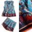Normal Ally present elegance silk print authumn set&#x1F389 (เสื้อ + กางเกง , มีซับใน) thumbnail 7