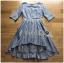 Lady Ribbon Dress with Lace Lining ขายส่งเดรสผ้าคอตตอน thumbnail 8