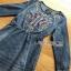 Lady Ribbon Martin Modern Tribal Embroidered Soft Denim Dress thumbnail 5