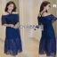 Lady Ribbon Black & Blue Lace Dress thumbnail 1