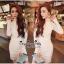 Lady Ribbon Online เสื้อผ้าแฟชั่นออนไลน์ขายส่ง เลดี้ริบบอนของแท้พร้อมส่ง Veryverypreppy เสื้อผ้า VP08240716 Luxury Lace White embroidery dress thumbnail 1