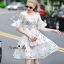 Lady Ribbon Online เสื้อผ้าออนไลน์ขายส่ง Normal Ally เสื้อผ้า NA13150816 &#x1F389Normal Ally Present flower print summer dress&#x1F389 thumbnail 5