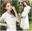 Lady Ribbon Online ขายส่งเสื้อผ้าออนไลน์ เลดี้ริบบอน LR07280716 &#x1F380 Lady Ribbon's Made &#x1F380 Lady Hana Classic Feminine Lace Maxi Dress in White thumbnail 1