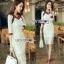 Lady Ribbon Lady Paula Gucci Style White Lace Dress thumbnail 1