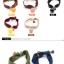 w1380 - Hair Accessories,ที่คาดผม,เครื่องประดับผม,กิ๊ปติดผม,เครื่องประดับ candy-colored ball hair ring thumbnail 3