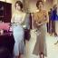 Lady Ribbon Online ขายส่งเสื้อผ้าออนไลน์ เสื้อผ้า Sevy SV08030816 &#x1F389Sevy Strapless Mermaid Tail Midi Dress thumbnail 1