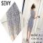 Dress ผ้าลูกไม้ 3 D ผ้าลายริ้ว thumbnail 5