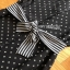 Striped Black & White Dress Lady Ribbon เดรสลายจุด thumbnail 5