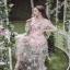 ผ้าออกัลซ่าแต่งดอกไม้ 3D thumbnail 4