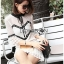 Lady Ribbon Mini Dress เดรสผ้าลูกไม้สีขาว-ดำ thumbnail 1