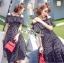 Lady Ribbon Cotton Dress เดรสผ้าคอตตอนลายจุดสีขาว-ดำ thumbnail 1