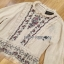 Lady Ribbon Flower Embroidered Linen Zara's Blouse thumbnail 5