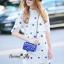 NA08290816 &#x1F389Normal Ally Present New collection autumn boutique blue flower lace set&#x1F389 (เซตเสื้อ + กระโปรง, มีซับในอย่างดีทั้งชุด) thumbnail 2