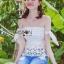 Lady Ribbon Online ขายส่ง เสื้อผ้าออนไลน์ ของแท้ ราคาถูกพร้อมส่ง เลดี้ริบบอน LR06140716 &#x1F380 Lady Ribbon's Made &#x1F380 Self-Portrait Off-Shoulder White Lace Corset thumbnail 3