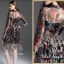 2Sister Made, 2 Premium Black Vintage Style Korea Fashion เดรสลุคสบายๆ เนื้อผ้าchiffonพริ้วใส่สบาย thumbnail 2