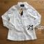 Lady Ribbon Online ขายส่งเสื้อผ้าออนไลน์ Lady Ribbon พร้อมส่ง LR06040816 &#x1F380&#x1F380 Lady Ribbon's Made &#x1F380&#x1F380 Lady Blaire Floral Embroidered Lace Shirt in White thumbnail 7