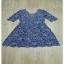 เดรสผ้าลูกไม้คอวีสีน้ำเงิน thumbnail 5