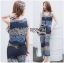 Lady Ribbon Online ขายส่งเสื้อผ้าออนไลน์ เลดี้ริบบอน LR11280716 &#x1F380 Lady Ribbon's Made &#x1F380 Lady Cassandra Casual Chic Striped Lace Tank Top and Pants Set เซ็ตเสื้อแขนกุ thumbnail 1