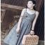 Back-Ribbon Checked Dress Lady Ribbon เดรสสายเดี่ยว thumbnail 4