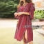 Lady Ribbon Kay Casual Bohemian Printed Flared-Sleeve Dress with Feather Belt thumbnail 3