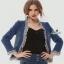 เสื้อคลุมสไตล์เกาหลี ดีไซน์ผ้า denim ฟอกสีสวย thumbnail 2