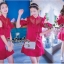 VP04310816 Red Layer Off-Shoulder Short Sleeves MiNi Dress มินิเดรสทรงเชิตสีแดงสวย thumbnail 1