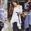 Lady Ribbon Online เสื้อผ้าออนไลน์ขายส่ง Lady Ribbon เสื้อผ้า LR12180816 &#x1F380 Lady Ribbon's Made &#x1F380 Lady Lauretta Minimal Chic Poplin Cotton Long Shirt with Ribbon เชิ้ตยาวผ้า thumbnail 1