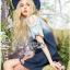 Lady Ribbon Online เสื้อผ้าออนไลน์ ขายส่งของแท้ราคาถููก LR10110716 &#x1F380 Lady Ribbon's Made &#x1F380 Lady Marina Cut-Out Pearl Embroidered Ombre Denim Dress thumbnail 3