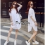 Lady Ribbon Online ขายส่งเสื้อผ้าออนไลน์ Very very pretty VP02030816 Lovely White Cotton Long Shirt Style Korea thumbnail 2