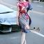 Lady Ribbon Online ขายส่งเสื้อผ้าแฟชั่นออนไลน์ เสื้อผ้า Normal Ally NA11080816 &#x1F389Normal Ally Present Elegance Silp scarf dress&#x1F389 (เดรสคลุม + เชือกพันรอบเอว) thumbnail 4