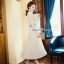 ผ้าทอลายไหมพรมเกาหลี กระโปรงอีดพีท thumbnail 6