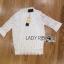 Lady Ribbon Online ขายส่งเสื้อผ้าออนไลน์ ขายส่งของแท้พร้อมส่ง Lady Ribbon LR06250717 &#x1F380 Lady Ribbon's Made &#x1F380 Lady Alessandra White Lace Blouse เสื้อลูกไม้สีขา thumbnail 5