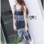 Lady Ribbon Online ขายส่งเสื้อผ้าออนไลน์ เลดี้ริบบอน LR11280716 &#x1F380 Lady Ribbon's Made &#x1F380 Lady Cassandra Casual Chic Striped Lace Tank Top and Pants Set เซ็ตเสื้อแขนกุ thumbnail 4