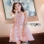 Lady Ribbon Ashley Pretty Feminine Butterfly-Embroidered Pearl Embellished Pink Dress thumbnail 2
