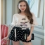 Lady Ribbon T-Shirt and Polkadot เสื้อยืด thumbnail 1