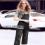 Lady Ribbon Daniella Platinum Overall Lace Jumpsuit thumbnail 3