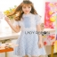 Lace Over Blue Crepe Mini Dress Lady Ribbon มินิเดรส thumbnail 1
