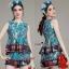 Normal Ally present elegance silk print authumn set&#x1F389 (เสื้อ + กางเกง , มีซับใน) thumbnail 1