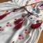 Chic Colorful Embroidered Cotton Lady Ribbon Dress thumbnail 6