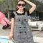 Lady Ribbon Black T-Shirt Dress Set ขายเซ็ตเสื้อยืด thumbnail 6