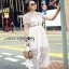 Lady Ribbon Self-Portrait White Lace Midi Dress thumbnail 4