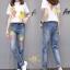 ชุดเซทเสื้อยืด+กางเกงยีนส์ทรงเดฟ ผ้ายีนส์ฮ่องกง thumbnail 1