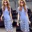 Lady Ribbon Online ขายส่งเสื้อผ้าออนไลน์เลดี้ริบบอน LR02010816 &#x1F380 Lady Ribbon's Made &#x1F380 Lady Amanda Sweet Feminine Butterfly Embroidered Polyester Dress thumbnail 3