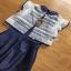 Lady Ribbon Lace and Silk Playsuit เพลย์สูทขาสั้น thumbnail 6