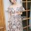 Lady Ribbon Flower Embroidered Dress ขายเดรสทอลาย thumbnail 2