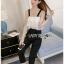 Black Crepe Jumpsuit Lady Ribbon ขายจัมป์สูท thumbnail 2
